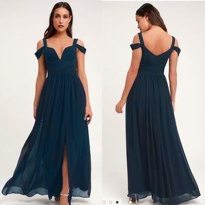 Lulus Ocean of Elegance Navy Dress